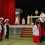 Altar servers at CC procession
