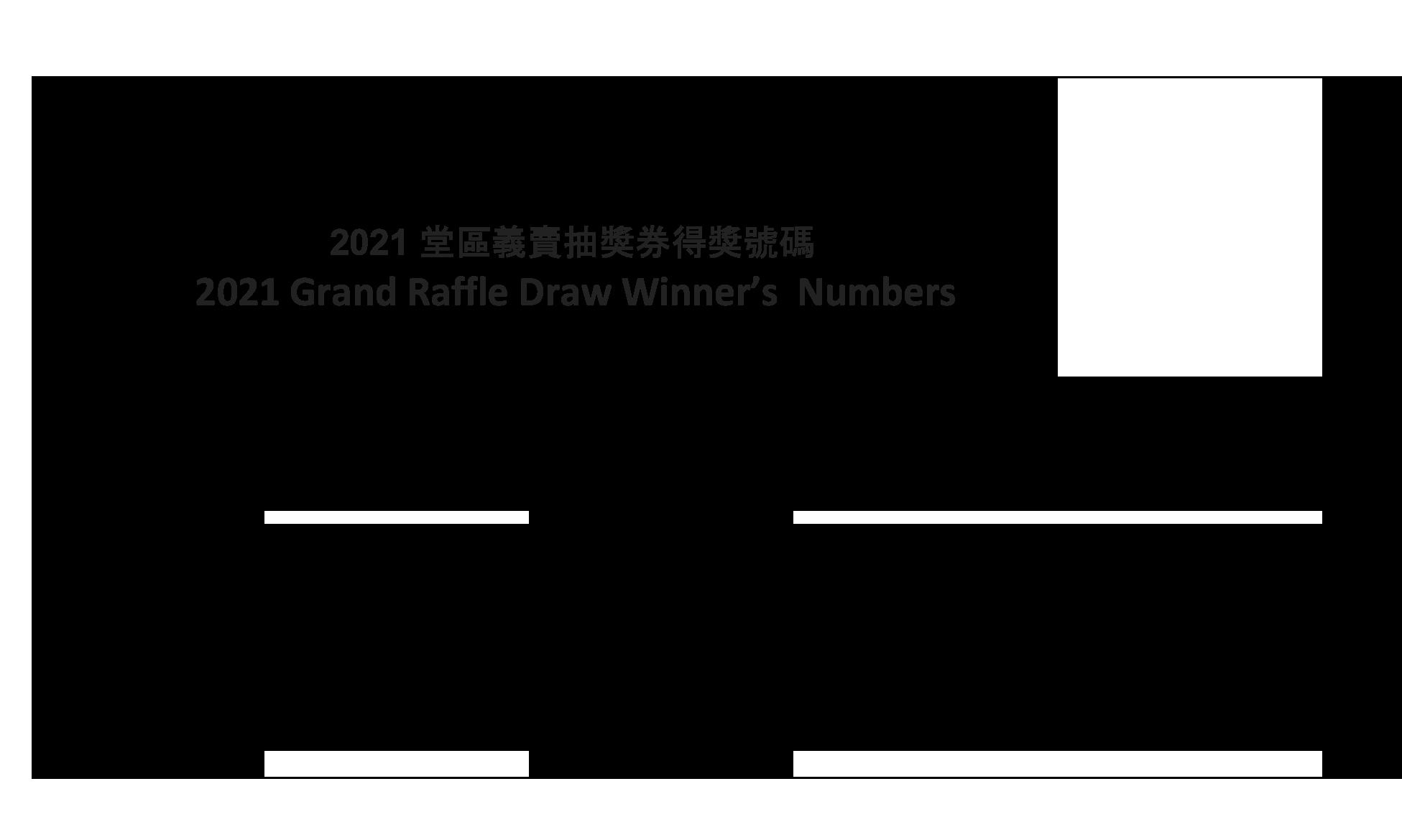 2021 Raffle Draw Winners